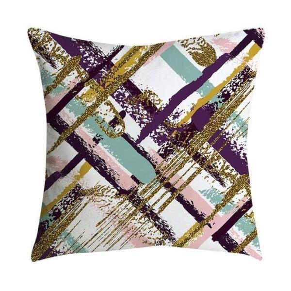 Pillowcases Pink small fresh printing square pillowcase 21302367-551