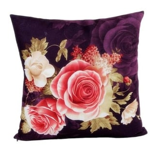 Retro Flowers Sofa Bed Square Pillow Case Home Décor 21302631-591