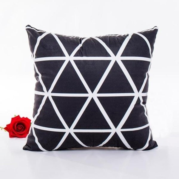 Ouneed Black & white Polyester Throw Pillow Case 43x43cm 16473708-195