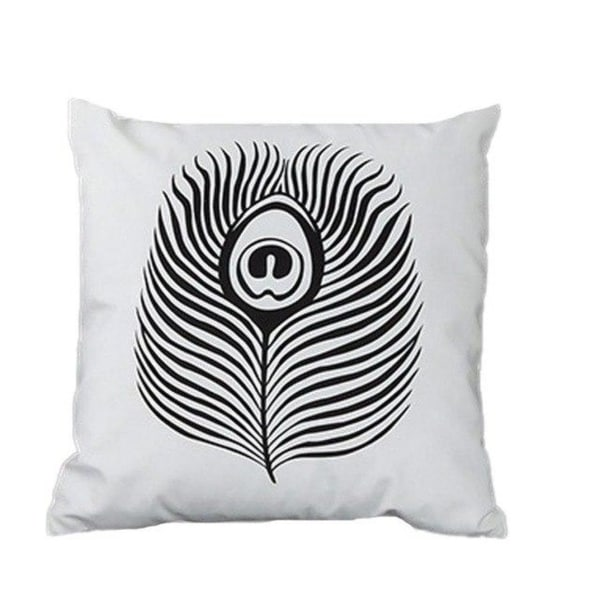 Stripe Lattice Feather Print Sofa Throw Pillow Cover 17377463-201