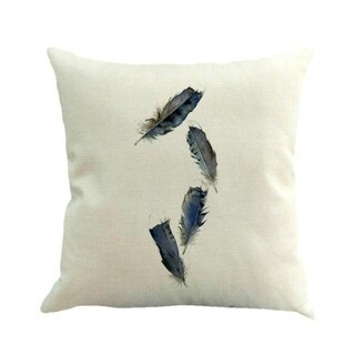 Feather Printed Sofa Bed Home Decor Pillow Case 45x45cm 13885245-74