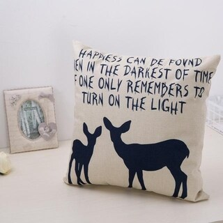 Cute Bear Cotton Linen Decorative Pillow Case 21305955-838