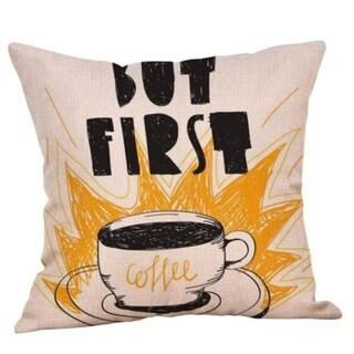 Coffee Print Ocean Beach Sea Cotton Linen Pillow Case 16466462-178