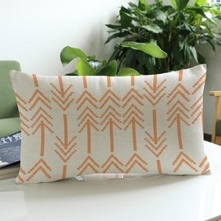 Arrow Print Cushion Cover Linen Pillowcases 16163467-148
