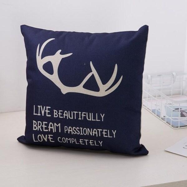 Cute Bear Cotton Linen Decorative Pillow Case 21305955-844
