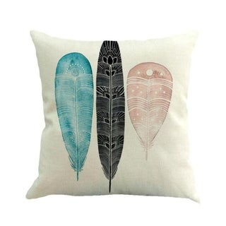 Feather Printed Sofa Bed Home Decor Pillow Case 45x45cm 13885245-76