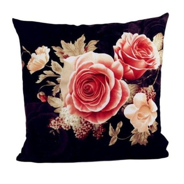 Retro Flowers Sofa Bed Square Pillow Case Home Décor 21302631-588