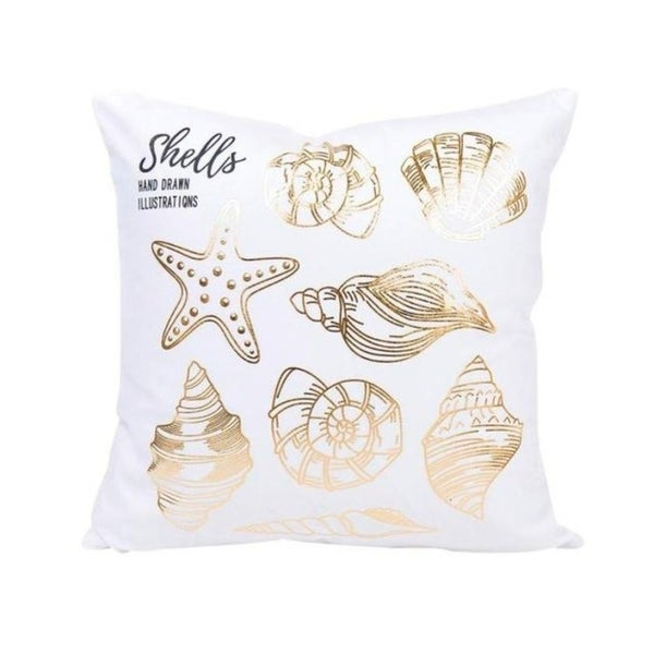 Gold Foil Printing Pillow Case Bronzing Cushion Cover 21302766-594