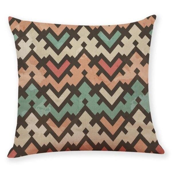 Geometric wave pattern Throw Pillow Case 45x45cm 21304800-762