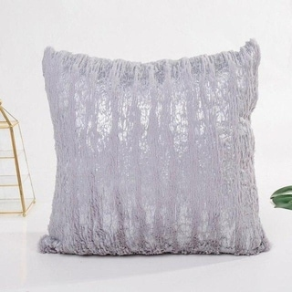Solid Plush Pillow cover Hidden Zipper Pillowcase 21298624-296