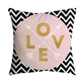 Pillowcases Pink small fresh printing square pillowcase 21302367-564