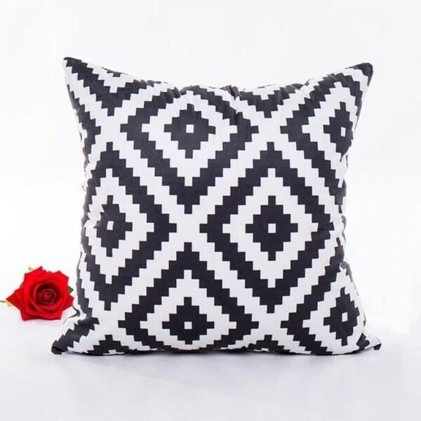 Ouneed Black & white Polyester Throw Pillow Case 43x43cm 16473708-193