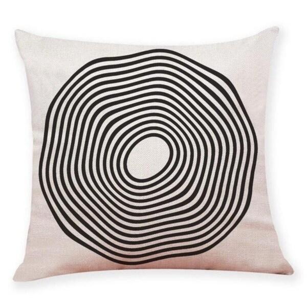 Black And White Geometry Throw Pillowcase Pillow Covers 21301520-405