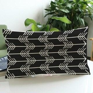 Arrow Print Cushion Cover Linen Pillowcases 16163467-141