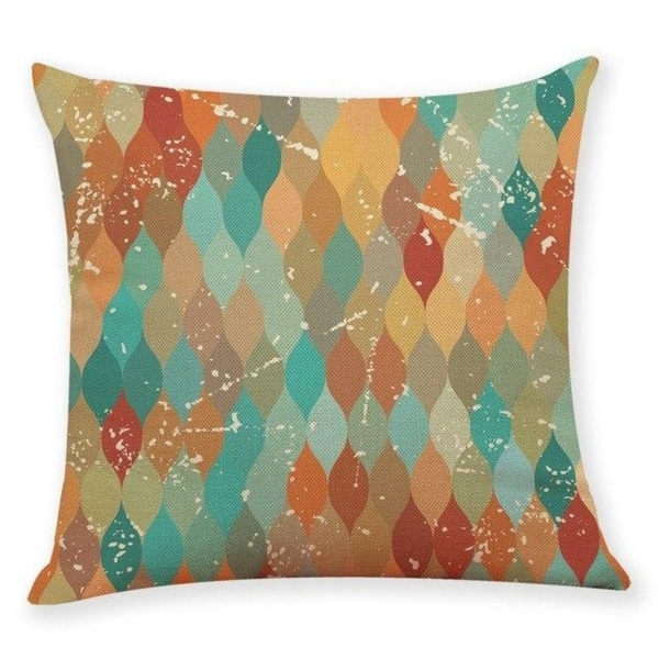 Geometric wave pattern Throw Pillow Case 45x45cm 21304800-760