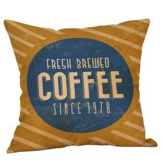 Coffee Print Ocean Beach Sea Cotton Linen Pillow Case 16466462-176