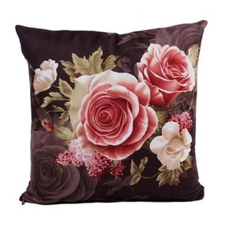 Retro Flowers Sofa Bed Square Pillow Case Home Décor 21302631-589