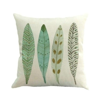 Feather Printed Sofa Bed Home Decor Pillow Case 45x45cm 13885245-75