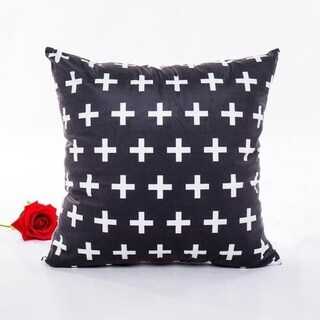 Ouneed Black & white Polyester Throw Pillow Case 43x43cm 16473708-192