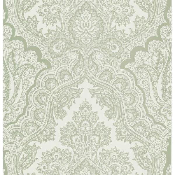 Isla Light Grey Paisley Wallpaper Free Shipping Today 25599697