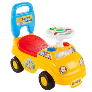 Ride On Activity Car- with Steering Wheel, Lights, Sounds, Music for Babies, Toddlers Learning to Walk by Lil' Rider