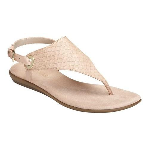5df3635f417a Shop Women s Aerosoles Conchlusion Sandal Pink Snake Embossed Faux Leather  - Free Shipping On Orders Over  45 - Overstock.com - 21807752