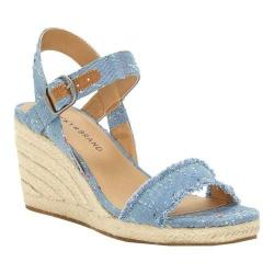 Women's Lucky Brand Marceline Espadrille Light Denim Textile