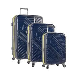Nautica Naval Pier 3-Piece Hardside Spinner Set Navy/Blazing Yellow