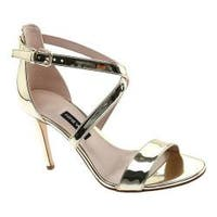 Women's Nine West My Debut High Heel Sandal Light Gold Metallic