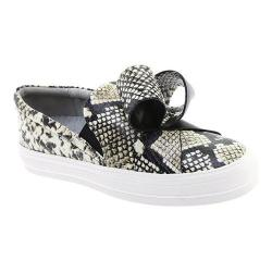 Women's Nine West Odienella Slip On Sneaker Roccia/Black Embossed Dress Calf (More options available)