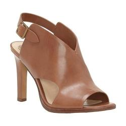 Women's Vince Camuto Norral Heeled Sandal Summer Cognac Casual Calf