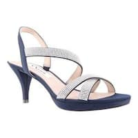 Women's Nina Nizana Strappy Platform Sandal New Navy Satin