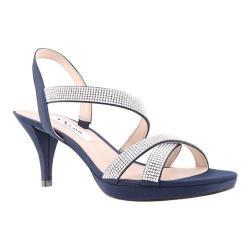 Women's Nina Nizana Strappy Platform Sandal New Navy Satin
