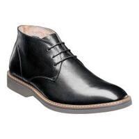 Men's Florsheim Union Plain Toe Chukka Boot Black Leather