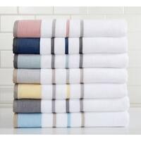 Home Fashion Designs Luxury Spa 100% Turkish Cotton Striped Bath Towels