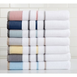 Home Fashion Designs Luxury Spa 100% Turkish Cotton Striped Bath Towels