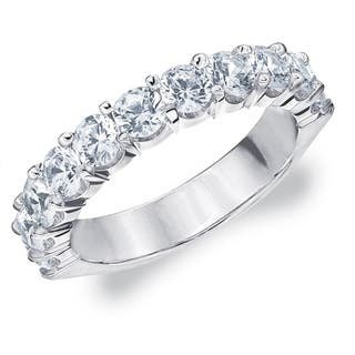 2 CT Prong Set Lab Grown Diamond Ring Sparkling, E-F Color/VS Clarity