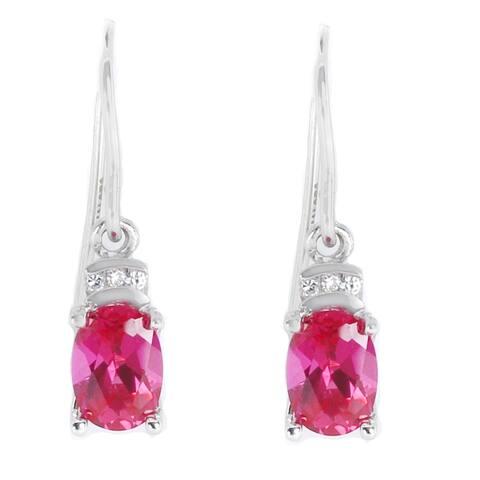 40546ea7b Michael Valitutti 14K White Gold Pink Tourmaline & Diamond Earrings