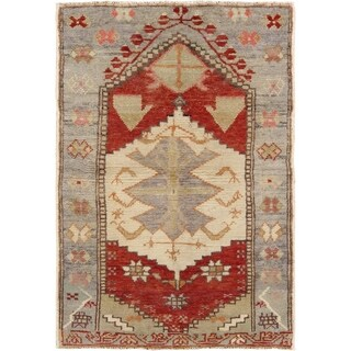 Pasargad Turkish Vintage Anatolian Hand-Knotted Wool Rug - 2' x 3'