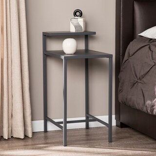 Porch & Den Brant Grey Metal Nightstand
