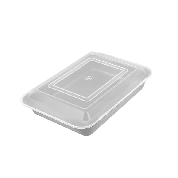 Range Kleen B06CC Non-stick Covered Cake Pan - 9x13 inch - Black. Opens flyout.