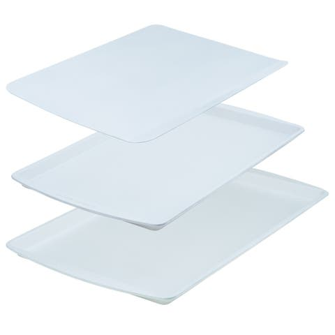 Range Kleen BC9001 CeramaBake Cookie Sheet Set, White - 3 Piece