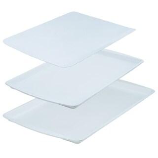 Range Kleen BC9001 CeramaBake Cookie Sheet Set, White - 3 Piece