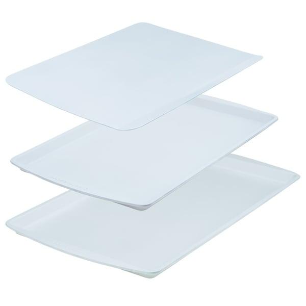 Range Kleen BC9001 CeramaBake Cookie Sheet Set, White - 3 Piece. Opens flyout.