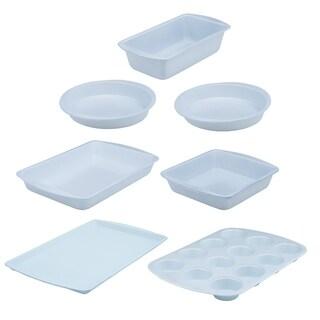 Range Kleen BC9007 CeramaBake Bakeware Set, White - 7 Piece