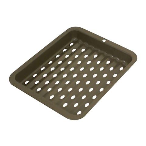 Range Kleen B25SC Non-stick Petite Crisper - outer 8x10 inch - Black