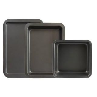 Range Kleen BW8 Non-Stick Bakeware Set - 3 Piece - Black