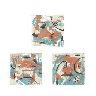 Melissa Wang 'Abstract Composition' Canvas Art (Set of 3)
