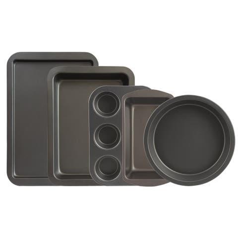 Range Kleen BW9 Non-stick Bakeware Set - 5 Piece - Black