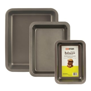 Range Kleen BW7 Non-stick Baking Set - 3 Piece - Black